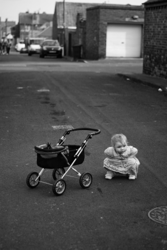 girl with pram two