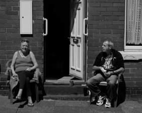 sunning on the doorstep